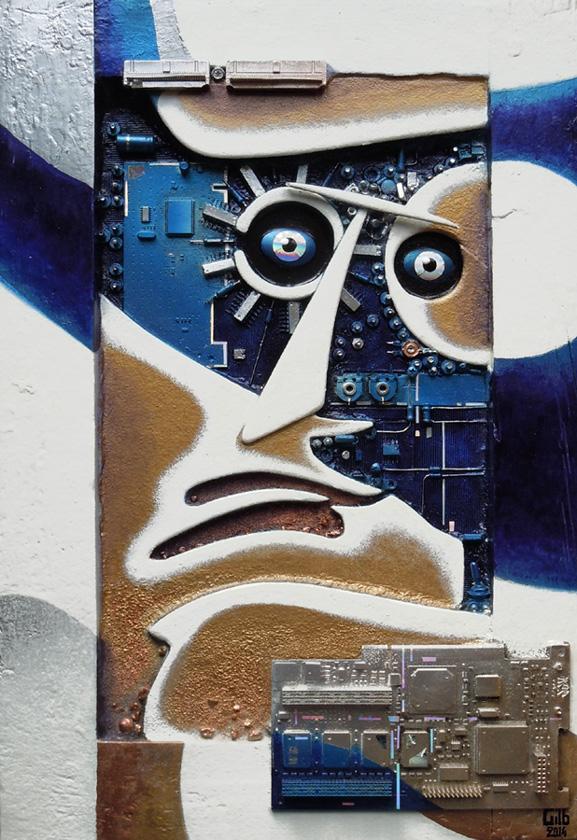 peinture Cyborg