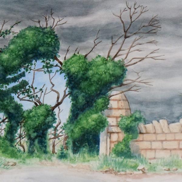 peinture Porte Vegetale
