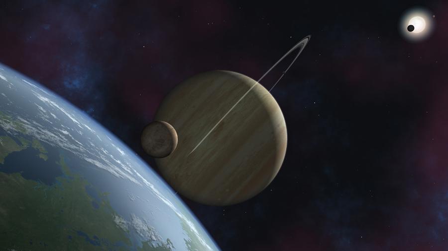 extrasolar satellite