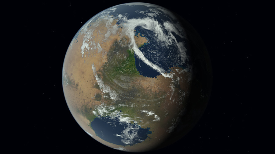 terraformed mars 3100